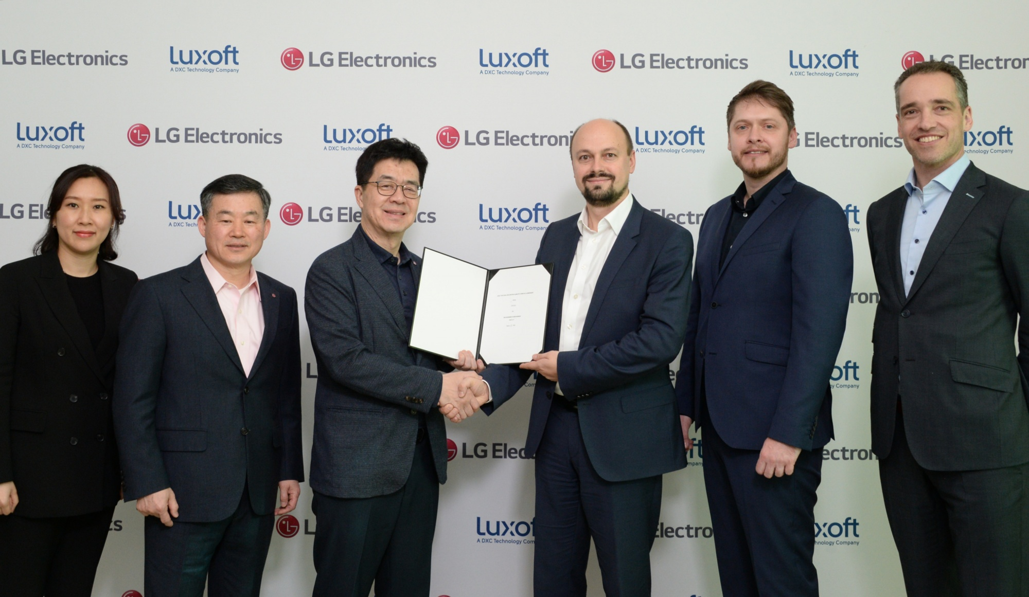LG Electronics and Luxoft Joint Venture Agreement Signing Ceremony, January 7, 2020